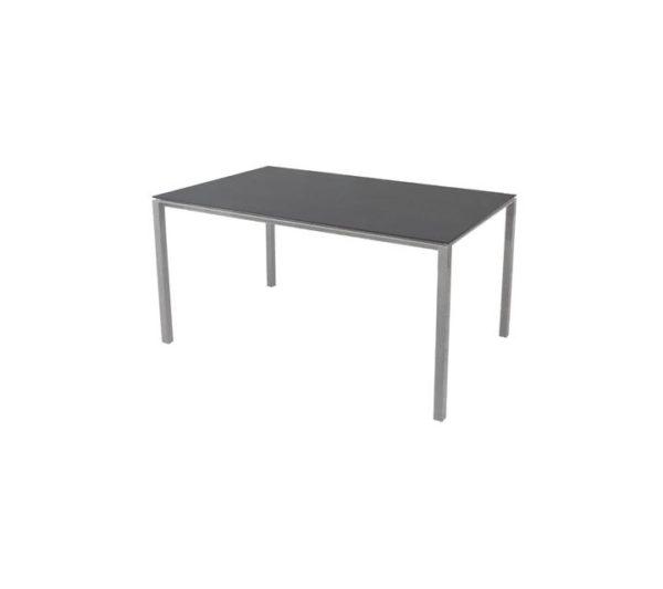 pure bord - light grey - nero black - 150x90 - schiang living